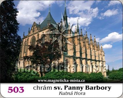 Magnetka - Chrám sv. Panny Barbory (Kutná Hora)