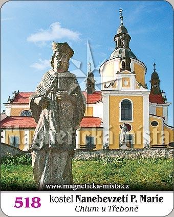 Magnetka - Kostel Nanebevzetí Panny Marie (Chlum u Třeboně)