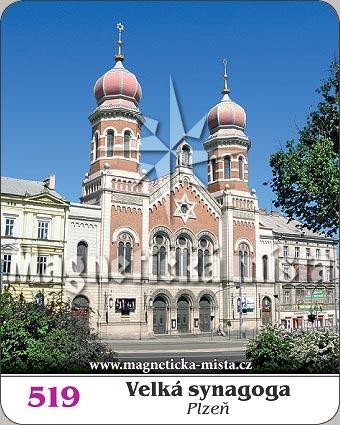 Magnetka - Velká synagoga Plzeň