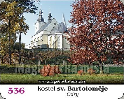 Magnetka - Kostel sv. Bartoloměje Odry