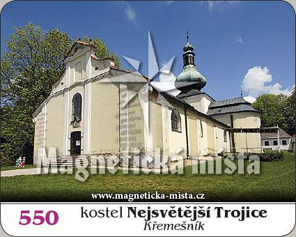 Magnetka - Kostel Nejsvětější Trojice (Křemešník)