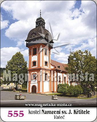 Magnetka - kostel Narození sv. Jana Křtitele (Valeč)