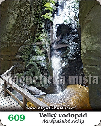 Magnetka - Velký vodopád - Adršpašské skály