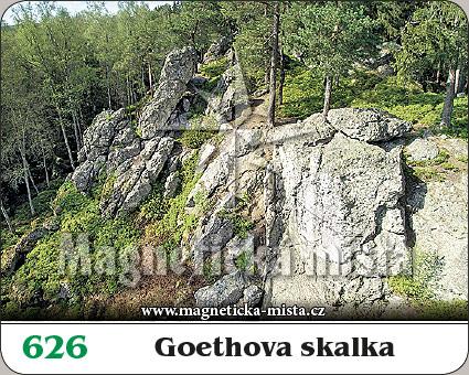 Magnetka - Goethova skalka