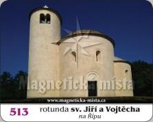 Magnetky: Rotunda sv. Jiří a Vojtěcha na Řípu