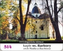 Magnetky: Kaple sv. Barbory u Buchlova