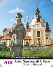 Magnetky: Kostel Nanebevzetí Panny Marie (Chlum u Třeboně)