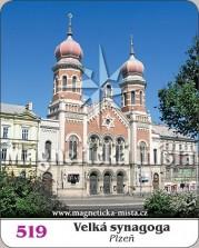 Magnetky: Velká synagoga Plzeň