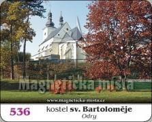 Magnetky: Kostel sv. Bartoloměje Odry