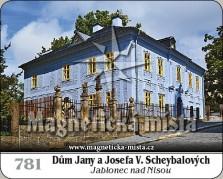 Magnetky: Dům Jany a Josefa V. Scheybalových - Jablonec nad Nisou